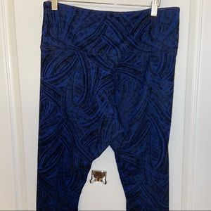 Lysee Blue Black Textured Legging